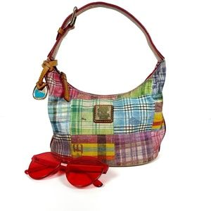 Dooney & Bourke Small Patchwork Hobo Bag